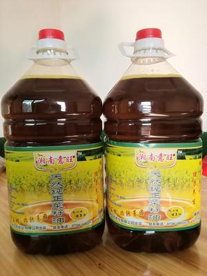 这是一张关于自榨纯菜籽油 5L/桶的产品图片