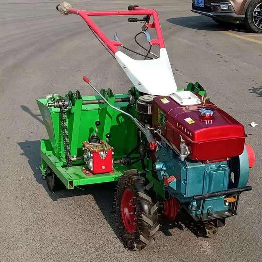 现货直销新款手推自走式大蒜播种机,汽油款柴油款动力一体播种