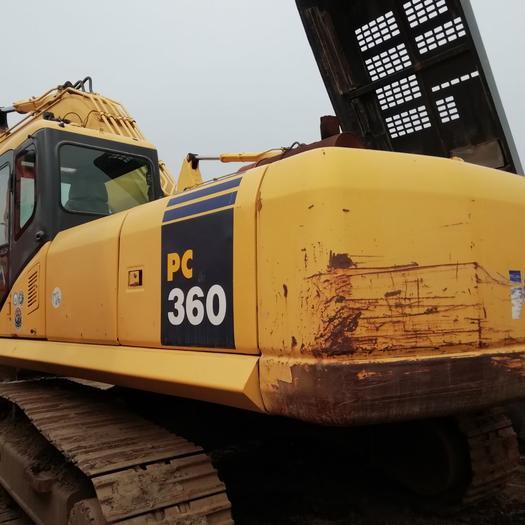 小松360挖掘机厂房拆迁,平场地干活快