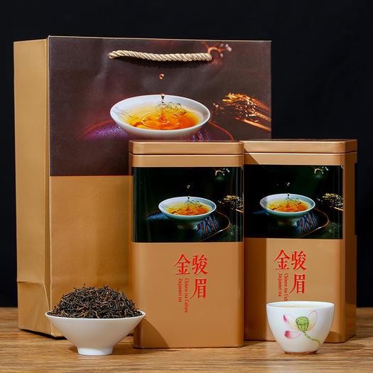 金骏眉红茶浓香型春茶2021新茶金骏眉罐装/礼盒装500g